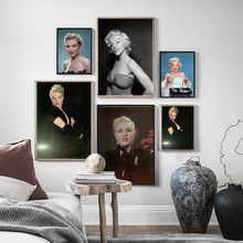 Marilyn Monroe Photo Movie Star Poster Vintage Nordic Posters and Prints Wall Art Canvas Painting Pictures For Living Room