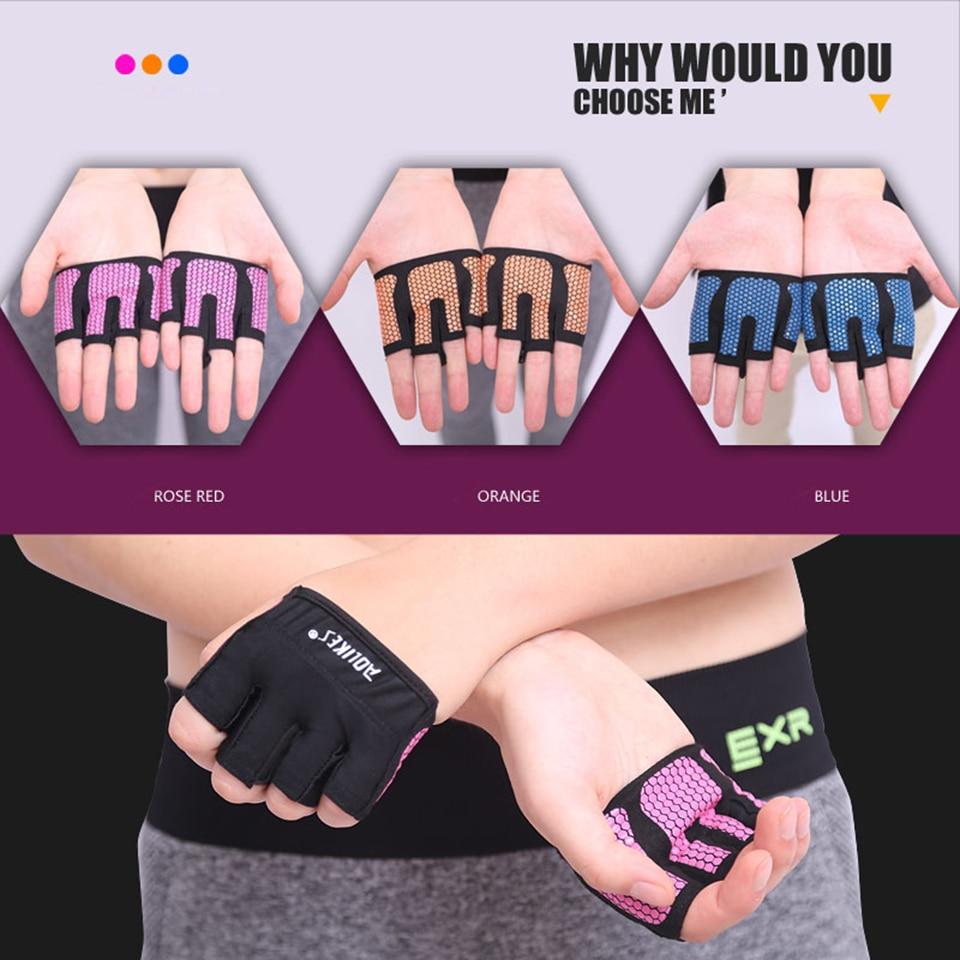 1 пара противоскольжения Мужчины и женщины Гантели Тренировки с отягощениями Гимнастические перчатки Бодибилдинг Упражнения для занятий спортом Фитнес-перчатки Cross Fit