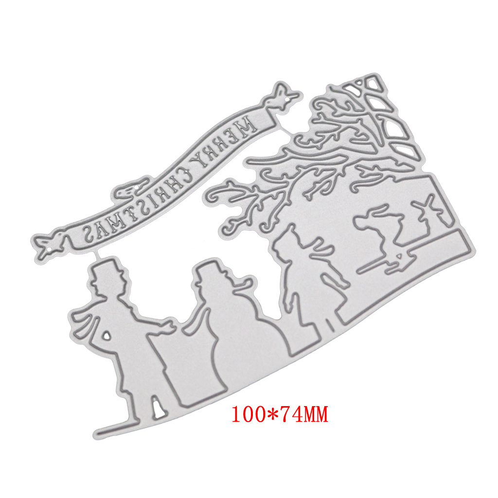 Winter Metal Cutting Dies Stencil for DIY Scrapbooking Paper Card Embossing Craft Decor Christmas in Cutting Dies from Home Garden