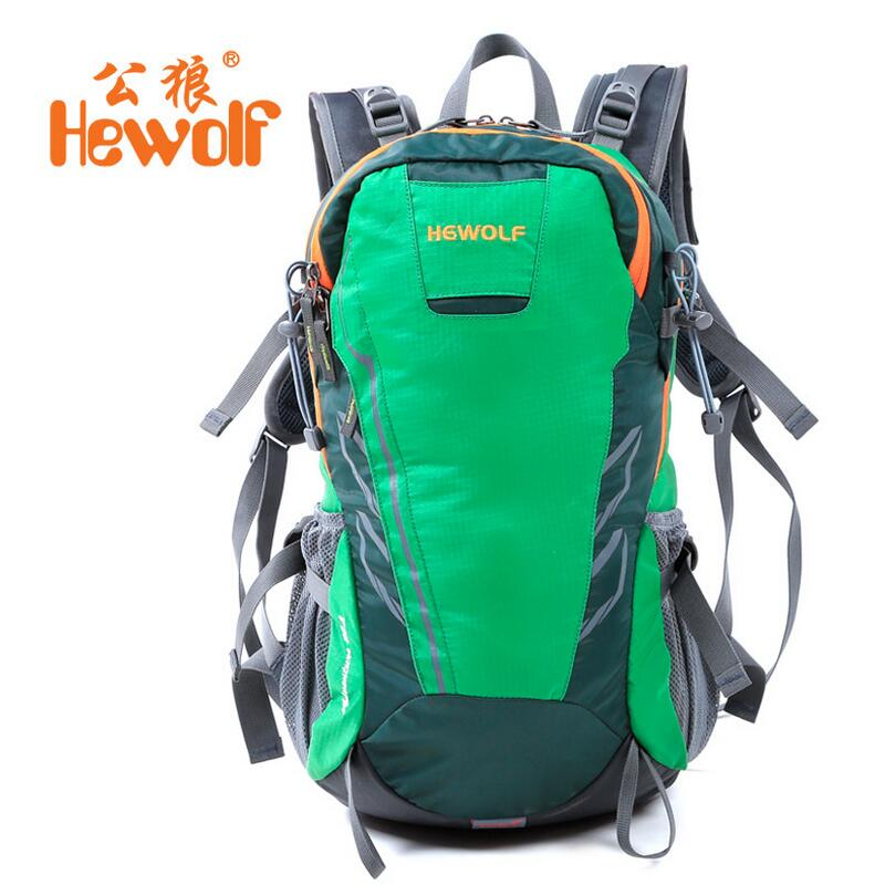 ФОТО Hewolf Outdoor travel package men women backpack 28L Camping Ultralight travel waterproof sports bag computer bag
