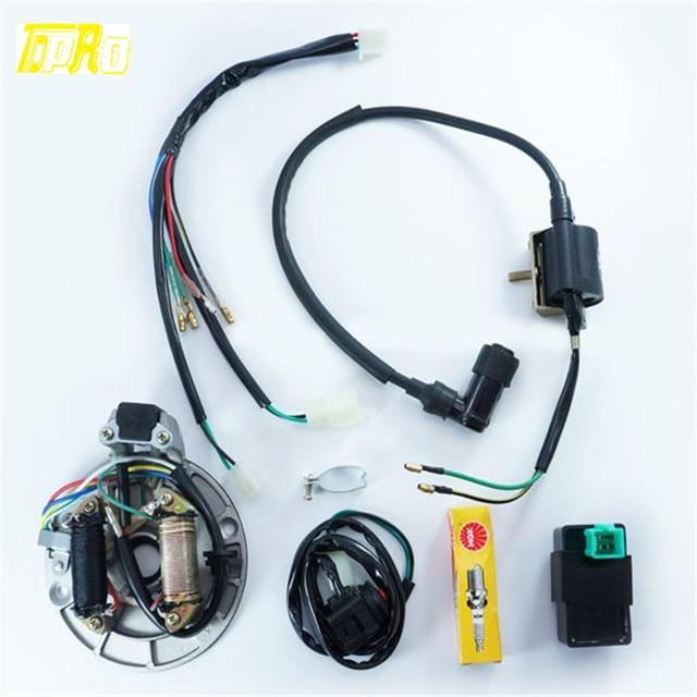 125cc kick start dirt pit bike wire harness wiring loom cdi coil rh aliexpress com 125cc pit bike wiring harness orion 125cc pit bike wiring