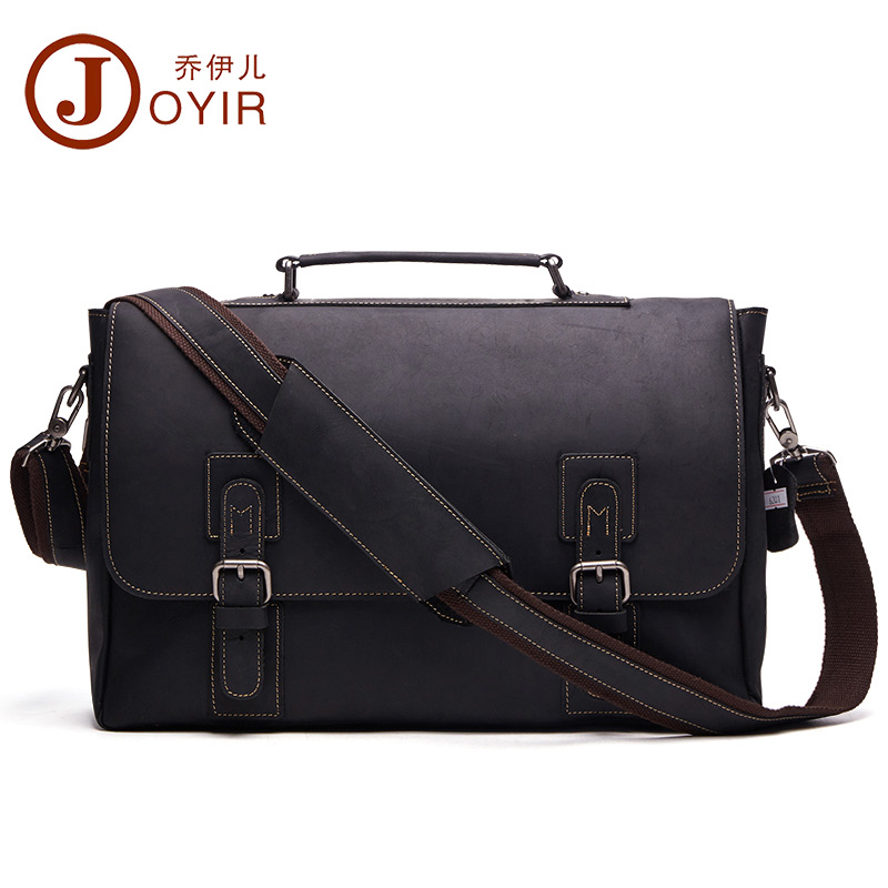 JOYIR New Genuine Leather Men Business Bag Fashion Brand Shoulder Bag Tote Messenger Bag Causal Handbag 15
