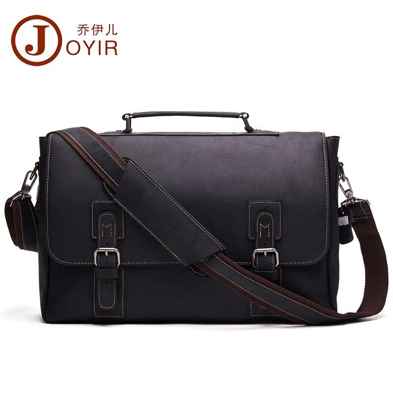 JOYIR New Genuine Leather Men Business Bag Fashion Brand Shoulder Bag Tote Messenger Bag Causal Handbag 15