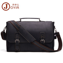 JOYIR New Genuine Leather Men Business Bag Fashion Brand Shoulder Bag Tote Messe