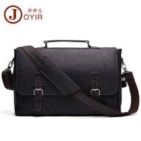 JOYIR New Genuine Leather Men Business Bag Fashion Brand Shoulder Bag Tote Messenger Bag Causal Handbag 15Laptop Briefcase Male