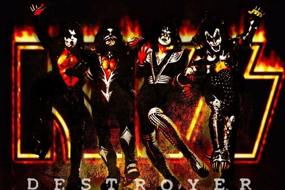 Popular kiss band music buy cheap kiss band music lots for Kitchen cabinets lowes with rock band wall art