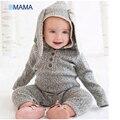 Regalos de navidad temporada edad cervatillo modelado ropa ha mameluco del bebé traje de conejo gris de lana de algodón bebé mono ropa de la subida
