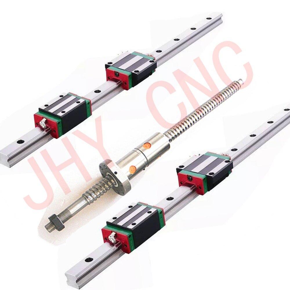 linear rail profile guideway 4 ballscrews ball screws DFU1605 4sets BK BF12 4 ballut Housings 4 couplers in Linear Guides from Home Improvement