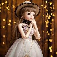 SHENGBOAO 1/3 Female BJD Dolls Full Set Makeup SD Doll 18 Ball Jointed Dolls Beauty Handmade Toys for Girls Gift