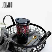 JOUDOO Creative Cherry Double-layer Ceramic Mugs Brief Ins Coffee Cup Office Home Water Bottle Gift With Lid Wholesale 35