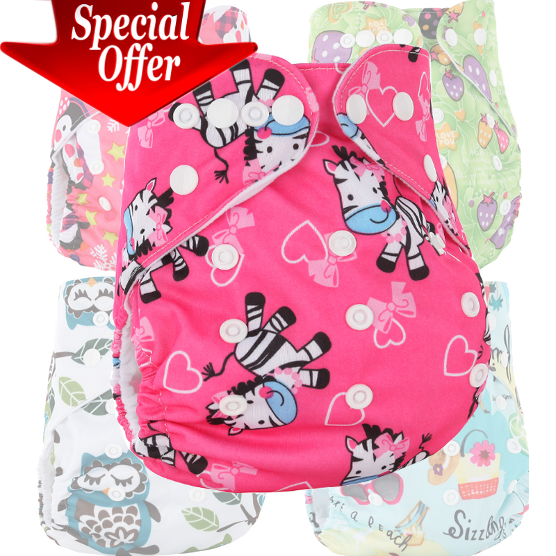 Express free shipping 55pcs waterproof reusable baby cloth diaper cover, <font><b>60</b></font> PUL printed pocket diaper nappy for babies wholesale image