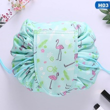 Magic Cosmetic Bag Travel Pouch Drawstring Makeup Case Women Storage Lady s  String Packing Bag For Cosmetic 0710fcf35ae8c