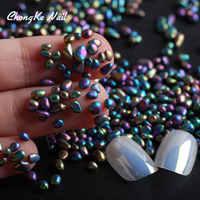 Hisenlee Chameleon Farbe Mini Unregelmäßigen Runde Perlen Nail art Dekoration Strass Für Nägel 3d Nail art 20 gr/paket