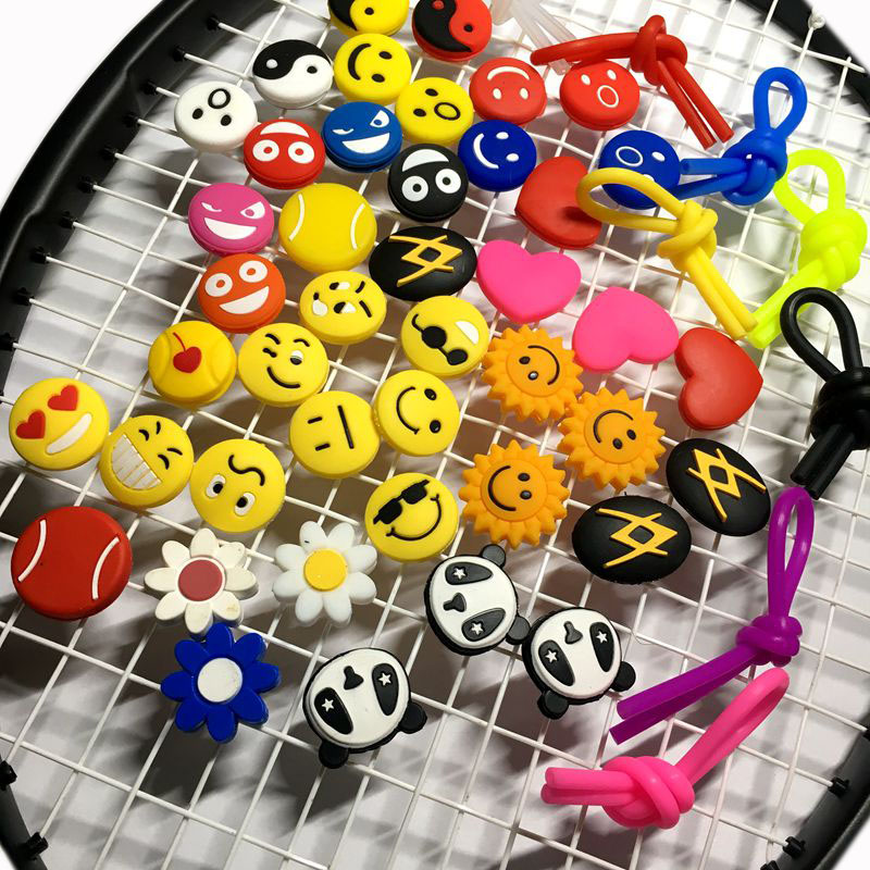 100pcs Various Types Tennis Racket Shock Absorber To Reduce Tennis Racquet Vibration Dampener Raqueta Tennis Racket Accessories