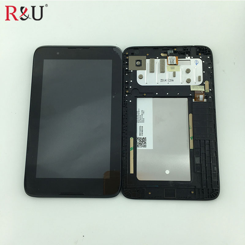 LCD Display Panel + Touch Screen panel Digitizer Assembly + black frame Replacement For Lenovo Tab A7-30 A3300 A3300-GV A3300-HV replacement lcd touch screen module for moto xt1032 moto g black
