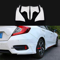 4x Pearl White Fit For Honda Civic 16 17 Front & Rear Lips Bumper Diffuser Cover