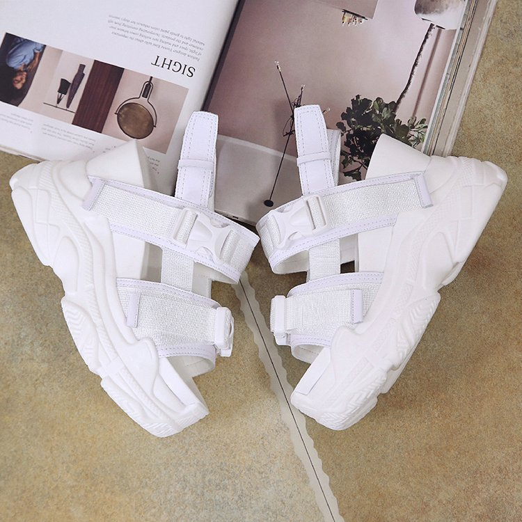 HTB15SknbjnuK1RkSmFPq6AuzFXaf Fujin High Heeled Sandals Female Increased Shoes Thick Bottom Summer 2019 New Women Shoes Wedge with Open Toe Platform Shoes