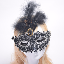 20pcs/lot Halloween Christmas Masquerade Feather Mask Fashion Women Sexy Half Face Masked
