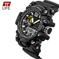 TTLIFE New LED Display Wrist Watch Men's Digital Watch Clock Men Sport Military Watches Men Luxury Analog Big Dial Date Hours