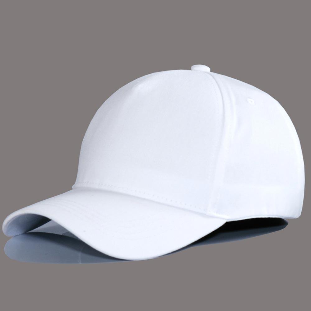 Wholesale Solid Color No LOGO Letters Cotton Hat Black White Hat   Baseball     Cap   Fashion High Quality Men Visor Lady Leisure SunHat