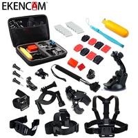 EKENCAM Accessories Head Strap Chest Strap Tripod Mount Suction Cup Big Storage Bag 18 In 1