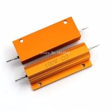100W Aluminum Power Metal Shell Case Wirewound Resistor RX24 0.01 ~ 100K 0.05 0.1 0.5 1 2 4 6 8 10 20 100 150 200 500 1K 10K ohm