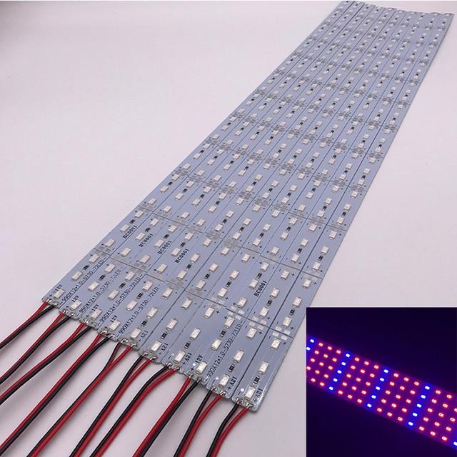 Necen 0.5M 10PCS 12V LED צמחים לגדול אור DC12V 5730 LED בר אור עבור אקווריום חממה צמח גדל 10 יח\חבילה