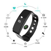 Bluetooth Смарт Браслет монитор сердечного ритма вызова сообщение напоминание фитнес-трекер для Android IOS MI2 TW64S