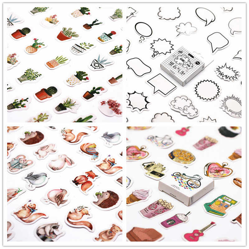 45Pcs/set kawaii Stationery sticker cute supplies pattern journal notes christmas gift label school stationery