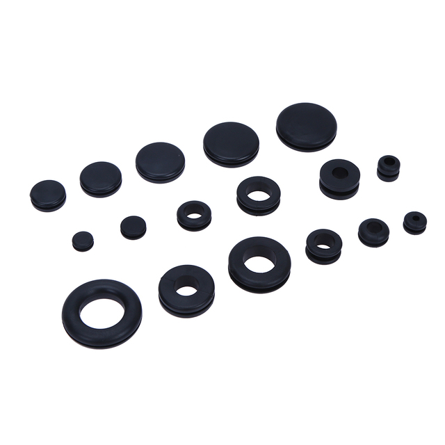 125pcs 18 Diffenrent Sizes Rubber Black O Ring Washer Seals Water ...