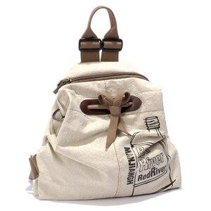 Image 2 - MANJIANGHONG 대용량 숙녀 캔버스 배낭 패션 코튼과 린넨 여행 가방 레저 야생 간단한 학생 가방