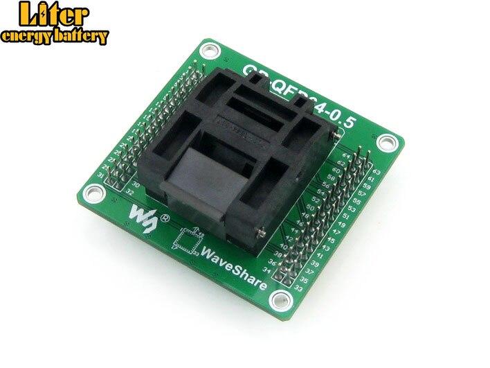 GP QFP64 0.5 IC Test Socket Programming Adapter QFP64 TQFP64 LQFP64 Yamaichi IC51 0644 807 0.5mm Pitch