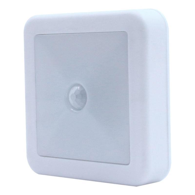 Светодиодный ночник ИК движения Сенсор квадратный светодиодный настенный светильник освещения 3A Батарея для Шкаф Кабинет Спальня туалет о... ...