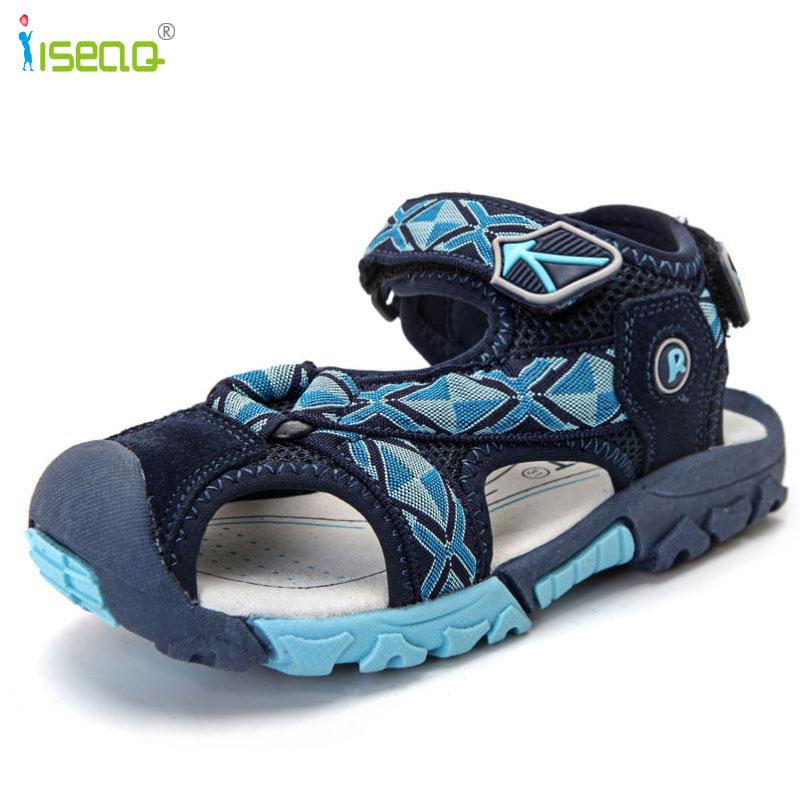 Kinderen jongens sandalen 2017 zomer nieuwe stijl schoenen jongens - Kinderschoenen - Foto 4