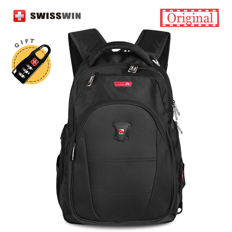 Swisswin Male Backpack Men's Latoptop Backpack for 13 14 15 inches Computer School Backpack For Teenagers Black Music Bagpack коврики для автомобиля music 13 14 15 eos