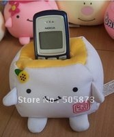 Free Shipping Mobile Phone Holder,Cute Japanese Tofu Plush,Environmentally friendly nanoparticles Toys 10pcs/lot