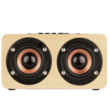 skw Wireless Bluetooth Speaker Wood Portable Audio HiFi Home Theatre Sound Receiver Stereo Music Subwoofer Computer Speakers