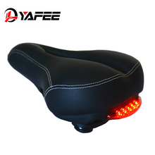 ФОТО yafee road bike saddle with tail light thicken mtb bicycle widen saddles soft bike cycling bicycle hollow saddle