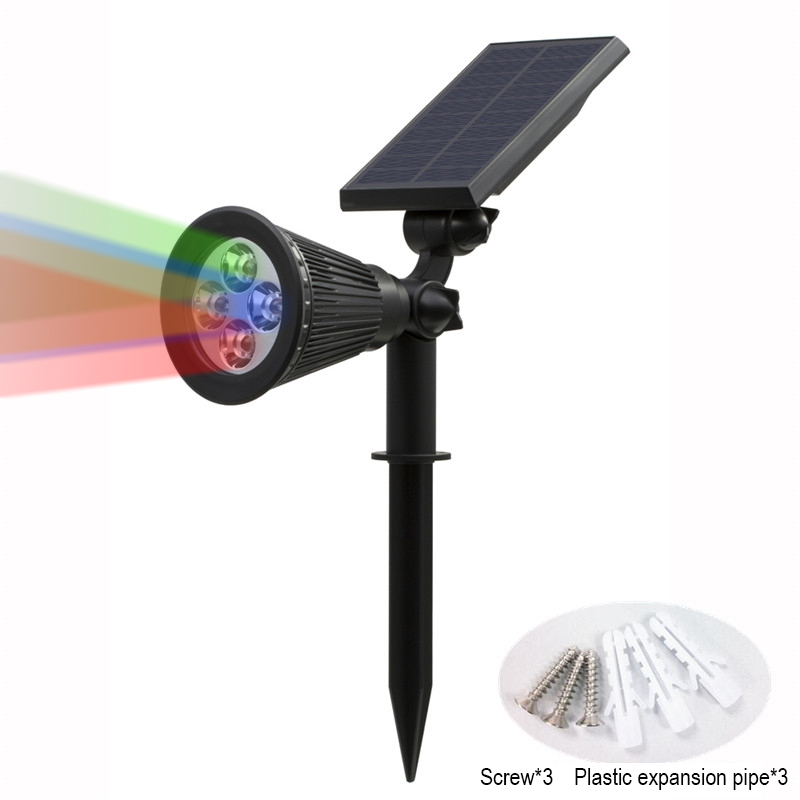 T SUN In Ground IP65 Solar Powered Spotlight with 4 to7 LEDs and Rechargeable Lithium Battery 43