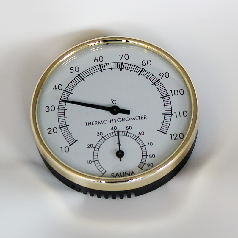Dry Sauna and Steam Room Accessary Thermometer Hygrometer in Metering Moisture and Temperature