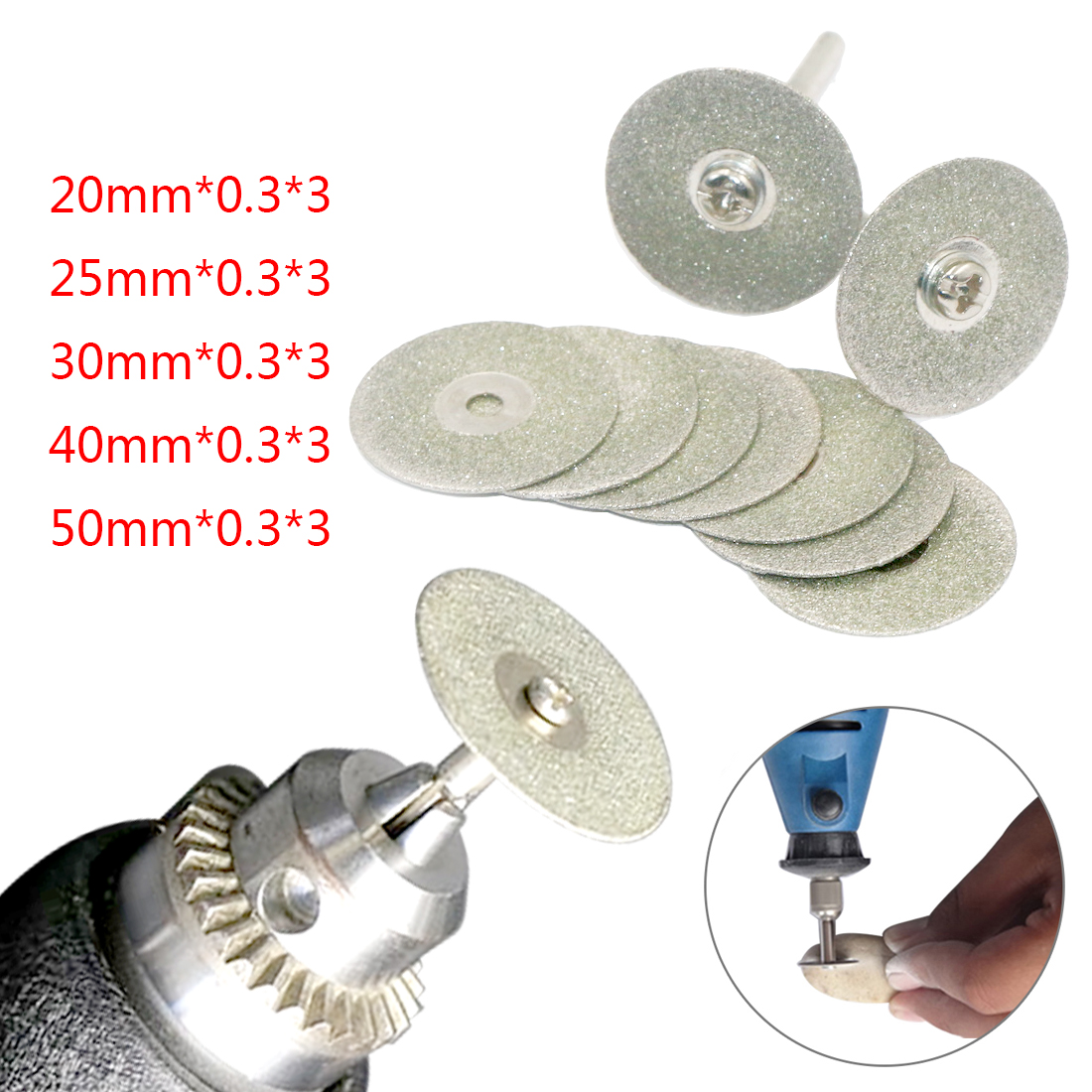 20mm Accessories Diamond Grinding Wheel Saw Mini Circular Saw Cutting Disc Rotary Tool Diamond Disc For Dremel Rotary Tools