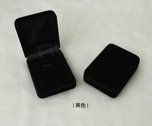 Бесплатная доставка Оптовая Продажа 12 шт./лот 8x6x3 см Черный Мода Ювелирных Изделий Бархата Ожерелье Упаковка для Подарков Дисплей Box случае(China (Mainland))