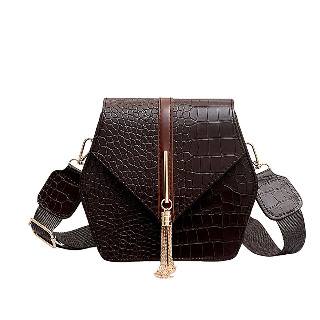 Crossbody-Bag Crocodile Square-Bag Small Girl Fringed Tattoo Hundred -Zer