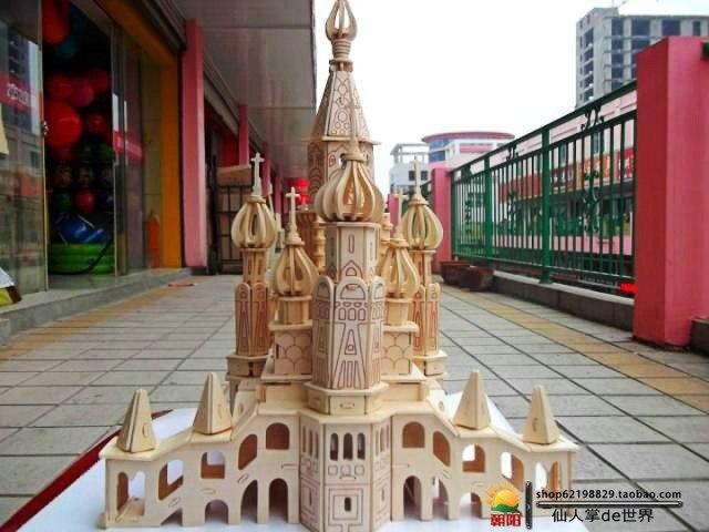 Saint-pétersbourg puzzle 3D modèle de construction en bois enfants adultes jouets à la main Puzzles jouet enfants cadeau - 3