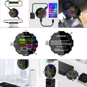 Image 4 - UD18 Voor App Usb 3.0 Type C Pd DC5.5 5521 Voltmeter Ampèremeter Voltage Current Meter Batterij Meten Kabel weerstand Tester