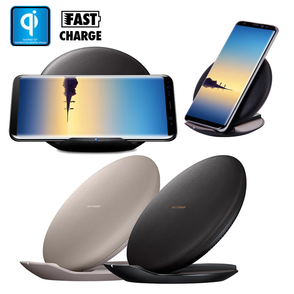 carprie new qi fast wireless charger rapid charging stand for samsung galaxy s9 s9 plus in. Black Bedroom Furniture Sets. Home Design Ideas