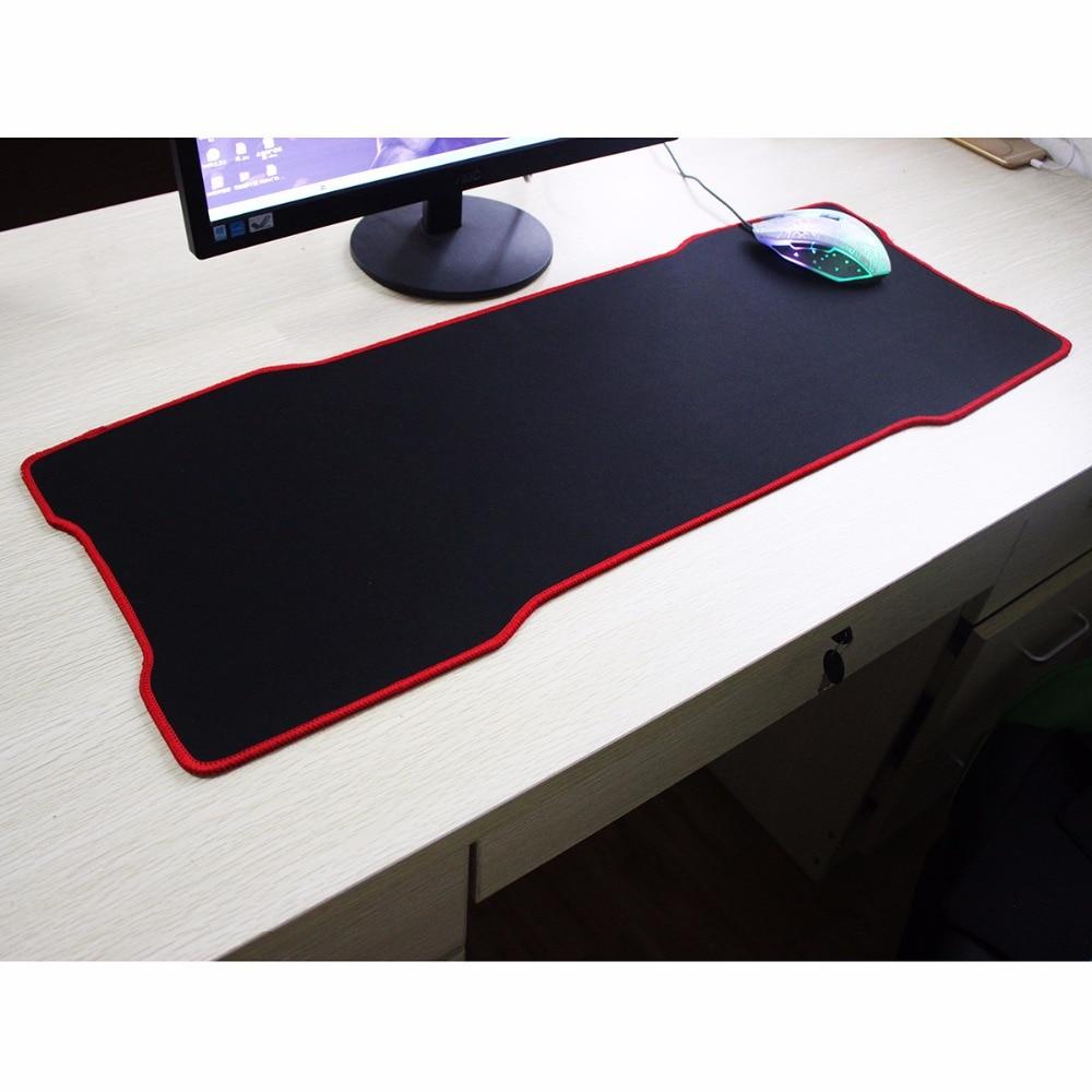 Kkmoon 800 X 400 Mm 3 Ukuran Besar Polos Hitam Diperpanjang Mouse Pad 30x80cm Gaming Pbpad 780300mm Anti Slip Mousepad Karet Alam