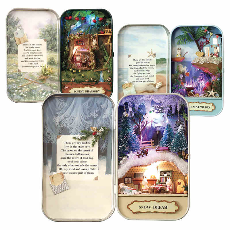 DOLLHOUSE MINIATURE ~ CHRISTMAS GREETING CARDS KIT