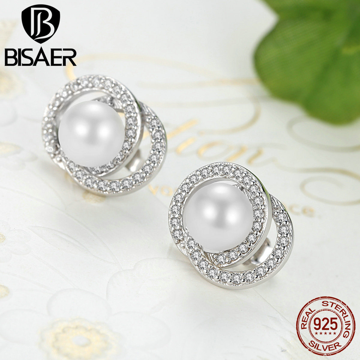 Authentic 925 Sterling Silver Imitation Pearl Earrings Stud Earrings For Women Brincos Sterling Silver Fine Jewelry Brincos