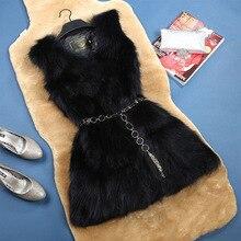 2016 hot selling lowest price real natural fox fur long vest women's genuine fur waistcoat short design slim outerwear coat